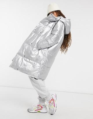 InWear Hill padded coat in silver
