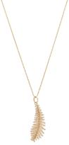 Mizuki 14K Yellow Gold & 0.26 Total Ct. Diamond Feather Pendant Necklace