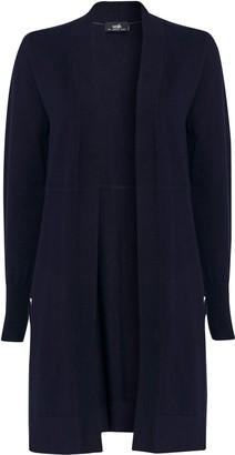 Wallis Navy Wool Mix Cardigan