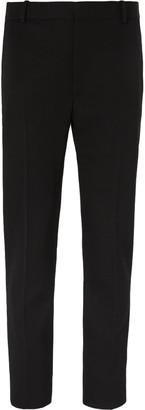 Alexander McQueen Black Slim-Fit Wool Tuxedo Trousers