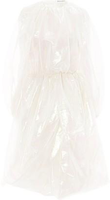 J.W.Anderson Draped Long-Sleeve Midi Dress