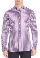 Kiton Gingham Casual Button-Down Shirt