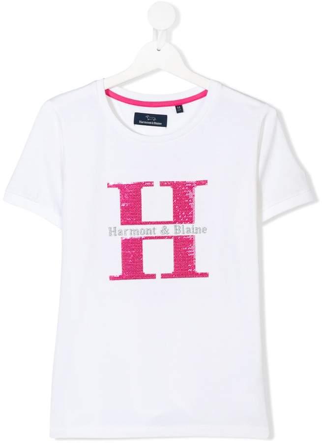 Harmont & Blaine Junior TEEN sequin embellished T-shirt