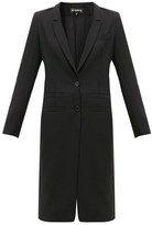 Ann Demeulemeester Lace-up Cuff Wool-twill Coat - Womens - Black