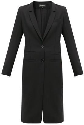 Ann Demeulemeester Lace-up Cuff Wool-twill Coat - Womens - Black