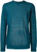 Roberto Collina perforated detail jumper - men - Cotton - 48