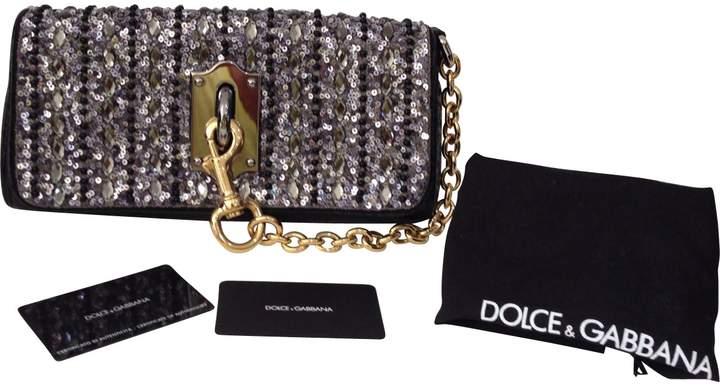 Dolce & Gabbana Black Leather Clutch Bag
