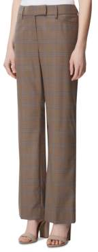 Tahari ASL Plaid Wide-Leg Pants