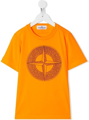 Stone Island Junior logo-print short sleeved T-shirt