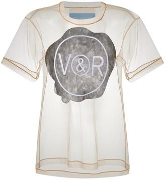 Viktor & Rolf Sealed logo-print tulle T-shirt