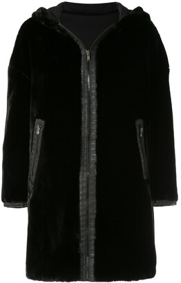 Fendi Pre Owned Reversible Long Sleeve Fur Coat