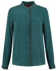 Pom Amsterdam - Green Jacquard Cupro Heritage Shirt - green   Jacquard Cupro   1 - Green/Green