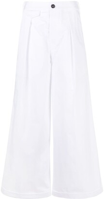 DSQUARED2 Wide-Leg Cotton Trousers