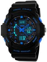 OWIKAR Boy's Girl's Multifunction Military S-shock Sports Wrist Watch LED Analog Water Resistant Children Kids
