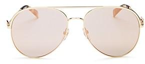 Marc Jacobs Women's Marc Daisy Brow Bar Aviator Sunglasses, 58mm
