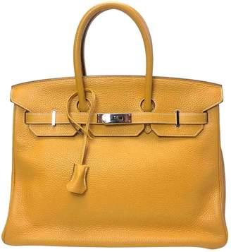 Hermes Birkin 35 Yellow Leather Handbags