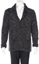John Varvatos Rib Knit Shawl Cardigan