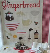 Now Designs Gingerbread Printed Dish Towel Set w/ Holly Cookie Cutter