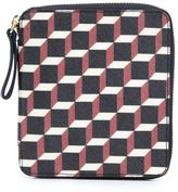 Pierre Hardy 'Canvas Cube' wallet - unisex - Calf Leather/Canvas - One Size