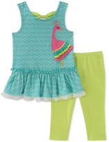 Kids Headquarters 2-Pc. Peacock Tunic & Leggings Set, Baby Girls