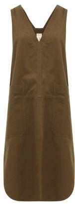 Lee Mathews - Workroom V-neck Patch-pocket Cotton Dress - Womens - Khaki