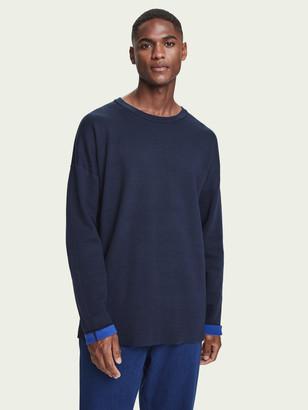 Scotch & Soda Reversible cotton-blend crew neck pullover | Men