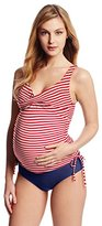 Maternal America Women's Maternity Ruched 2 Piece Tankini