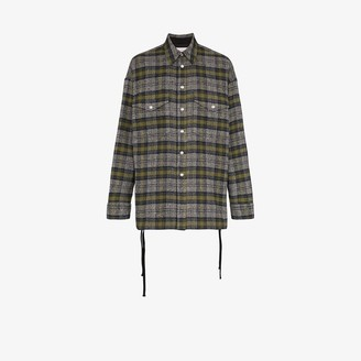 Faith Connexion Checked Cotton-Blend Overshirt