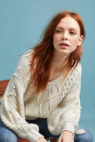 Molly Bracken Pommed Cable Sweater