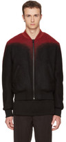 Marcelo Burlon County of Milan Black and Red Aorjek Bomber Jacket