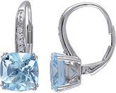 FINE JEWELRY Genuine Sky Blue Topaz and Diamond-Accent Leverback Drop Earrings