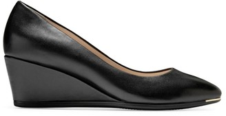 Cole Haan Grand Ambition Leather Wedge Pumps