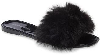 Steve Madden Fritzie Faux Fur Slide Sandal