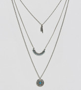 Reclaimed Vintage Inspired Feather Multilayer Necklace