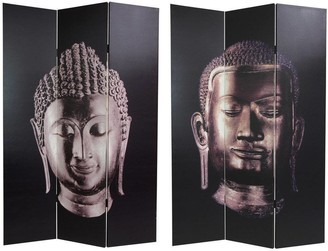 Oriental Furniture Handmade Buddha Room Divider