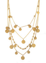 Nicole Miller Panama Coin Charm Necklace