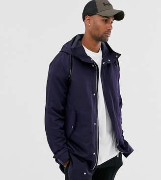 Asos Design DESIGN Tall parka jacket with detachable gilet liner in navy