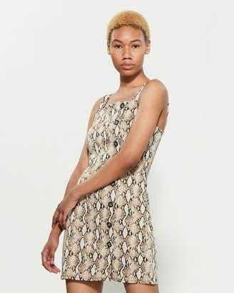 BeBop Snakeskin Print Jumper Dress