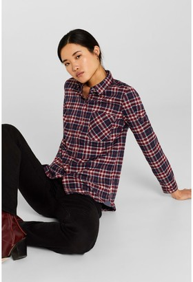 Esprit Long-Sleeved Checked Shirt