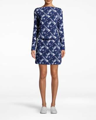 Nicole Miller Shibori Pinwheel Rayon Blouson Dress