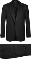 Corneliani Black Super 140's Wool Suit