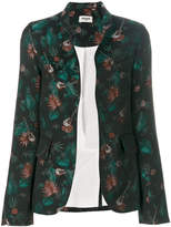 Zadig & Voltaire guitar and jungle print blazer