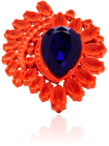Mawi Neon Flower Ring With Gemstone