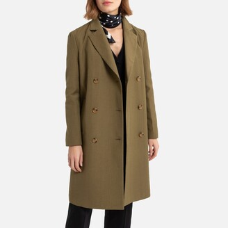 La Redoute Collections Light Mid-Length Coat with Double-Breasted Fastening
