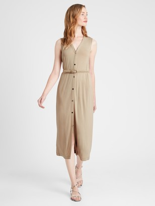 Banana Republic Petite Knit Button-Down Dress