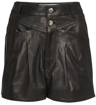 IRO Harald leather shorts