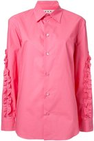 Marni ruffled shirt - women - Cotton - 46