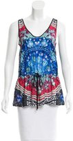 Clover Canyon Abstract Drawstring Top w/ Tags