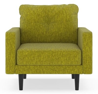 """Corrigan Studio Crabill 25.25"""" Armchair Fabric: Avocado Polyester Blend"""