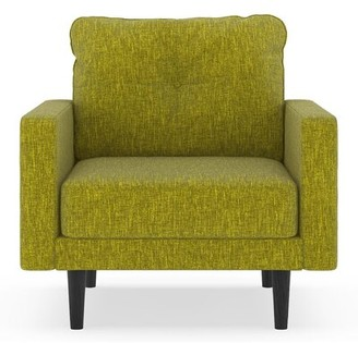 "Corrigan Studio Crabill 25.25"" Armchair Fabric: Avocado Polyester Blend"